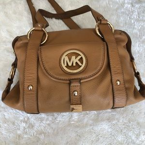 Michael Kors Fulton Satchel Caramel Color